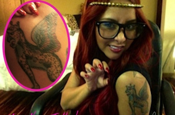 "Snooki Shows Off New ""Fierce Leopard"" Tattoo!"
