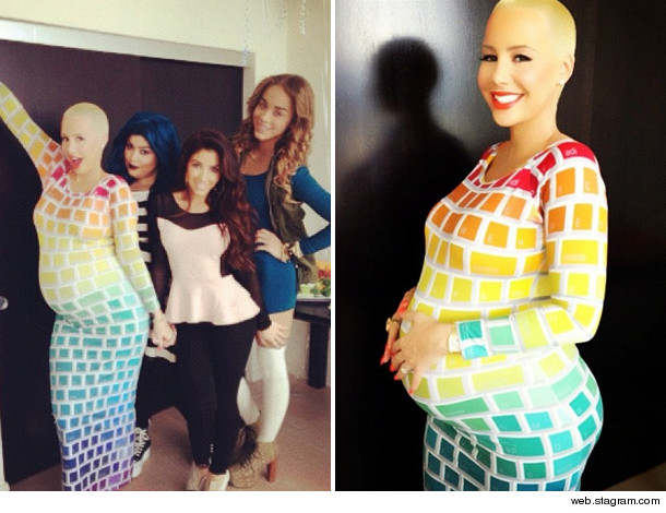 looks like amber rose can still have some fun with fashion even