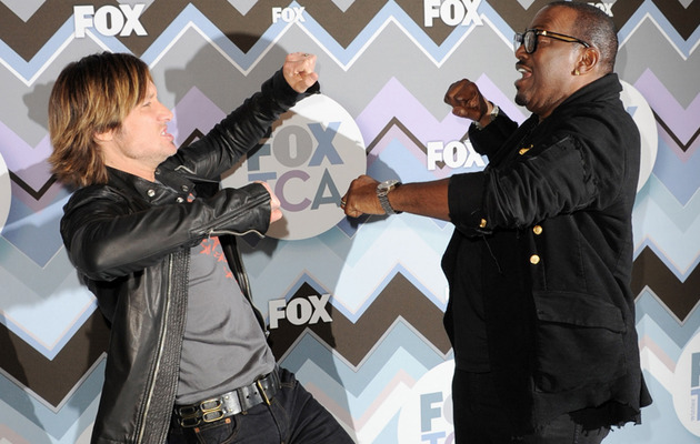 Keith Urban & Randy Jackson Mock Nicki & Mariah Feud