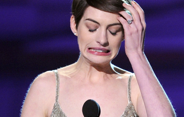 Anne Hathaway Critics' Choice Award: My Name Is Misspelled!