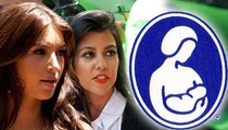 Kourtney Kardashian -- I'd Let My Kids BREASTFEED from Kim's Boobs