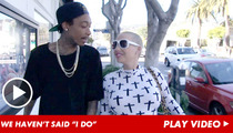 Wiz Khalifa & Amber Rose -- We're NOT Married ... Yet