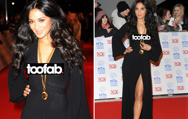 Nicole Scherzinger Has Red Carpet Wardrobe Malfunction