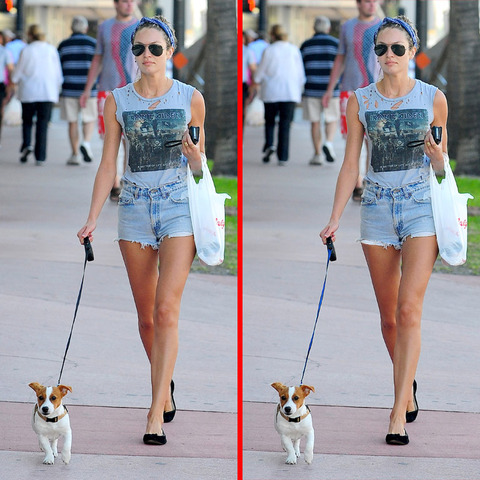 Can you spot the THREE differences in the Candice Swanepoel picture?