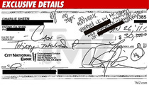 Charlie Sheen -- $30,000 Check to Porn Star