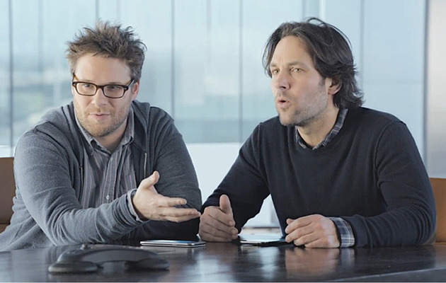 Seth Rogen, Paul Rudd Team Up For Super Bowl Teaser Spot