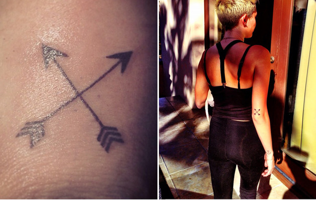 Miley Cyrus Gets Another Tattoo -- What Is It?