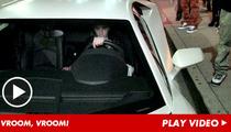 Justin Bieber -- Speeds Off in White Lamborghini