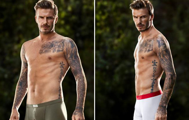 David Beckham Shares New H&M Underwear Shots