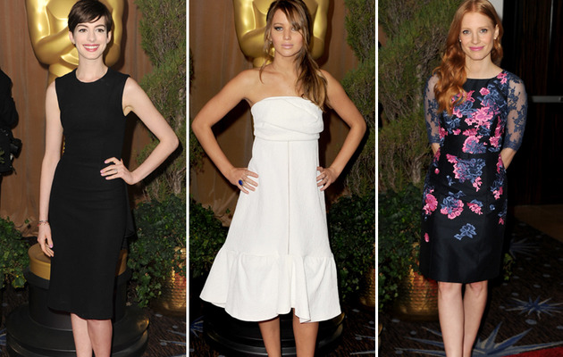 Jennifer Lawrence Vamps It Up at the Oscar Nominee Luncheon