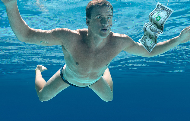 Ryan Lochte Recreates Nirvana Album Cover