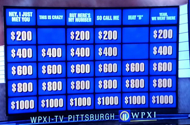 """Jeopardy"" Pays Tribute to ""Call Me Maybe"""