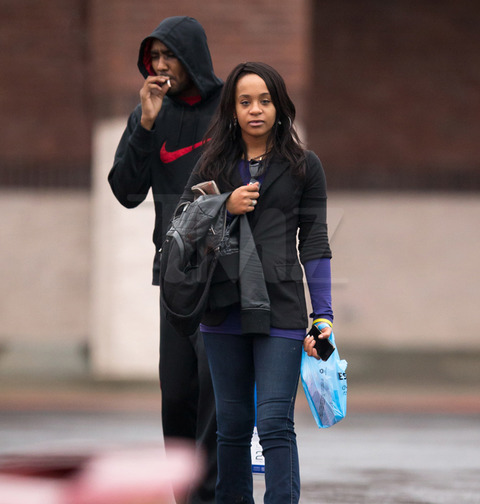 <span>It's been almost one year since Whitney Houston died from a drug overdose in Beverly Hills ... and yesterday her daughter was seen in public puffin' and passin' what appears to be a joint.</span>