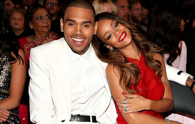 Chris Brown & Rihanna Cuddle In Audience at Grammy Awards