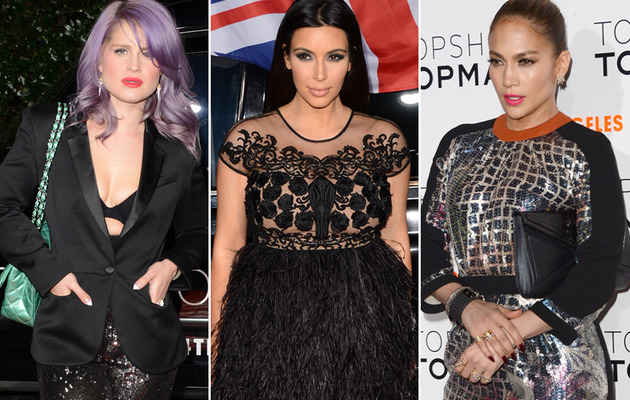 Kelly Osbourne, Kim K. & J.Lo: Boobs & Bumps At Topshop Bash!