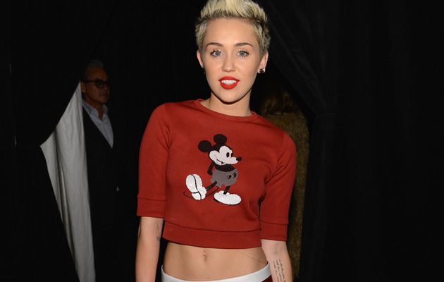 Miley Cyrus Flaunts Tight Tummy in Mickey Mouse Top!