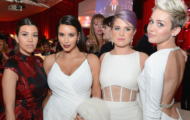 Kim Kardashian Parties with Miley Cyrus, Heidi Klum on Oscar Night