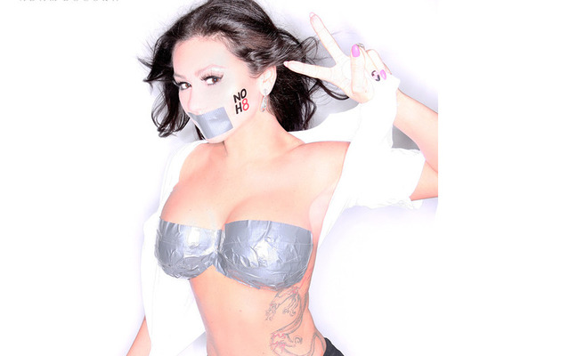 Jwoww Busts Out for NOH8 Campaign
