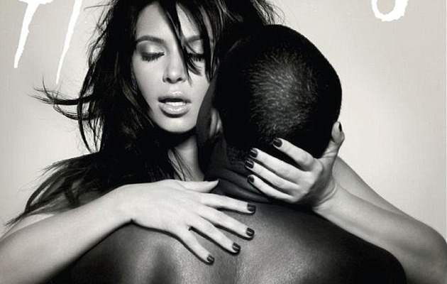 Kim Kardashian and Kanye West Pose Naked on Magazine Cover!