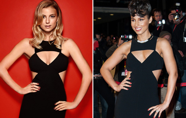 Dueling Dresses -- Emily VanCamp vs. Alicia Keys