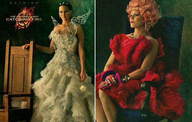 "Jennifer Lawrence Stuns In New ""Catching Fire"" Photos"