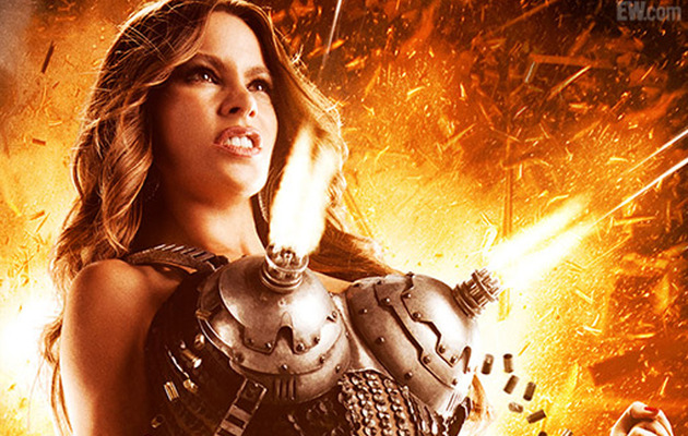"Sofia Vergara Busts Out in New ""Machete Kills"" Poster"