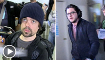 'Game of Thrones' Stars Peter Dinklage and Kit Harington -- The New Season Is Coming ... We'll Drink to That!