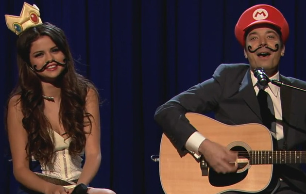 "Selena Gomez and Jimmy Fallon Sing ""Mario Kart Love Song"""