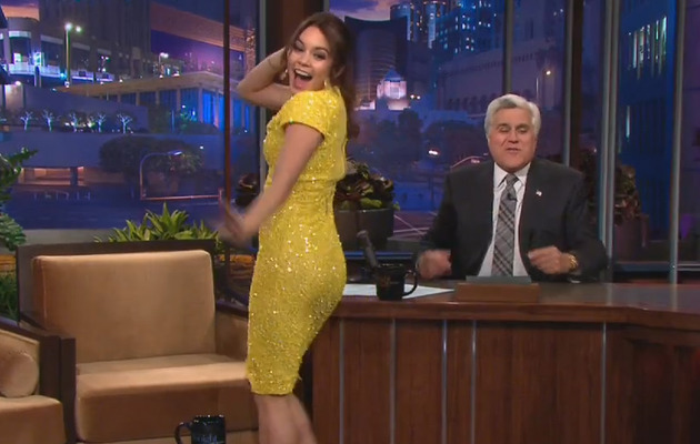 "Vanessa Hudgens Booty-Pops on ""The Tonight Show with Jay Leno"""