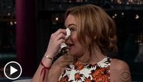Lindsay Lohan: Tears & Vodka on Letterman