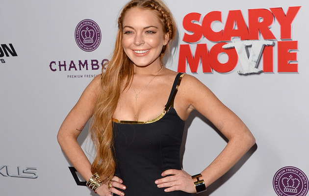 "Lindsay Lohan Cleans Up for ""Scary Movie V"" Premiere"