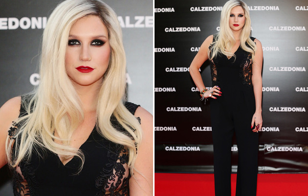 Ke$ha Stuns at Italy Fashion Show!