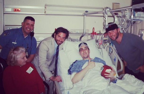 Bradley Cooper Visits Marathon Bombing Victims in the Hospital