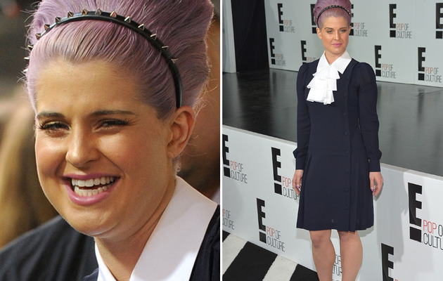 Kelly Osbourne Sports Orange Makeup!