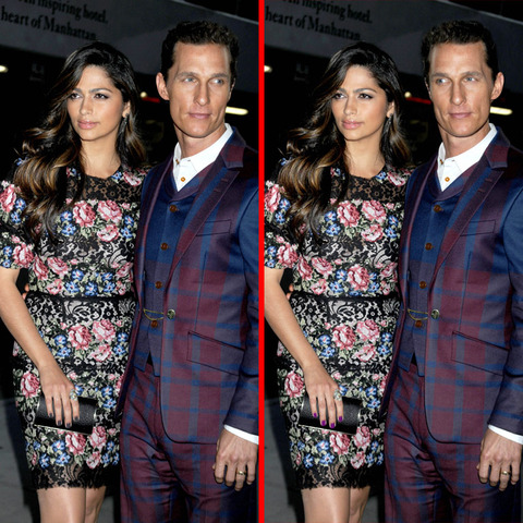 Can you spot the THREE differences in the Camila Alves and Matthew McConaughey picture?