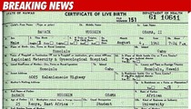 White House Releases Obama Birth Certificate