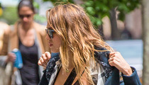 Jessica Alba -- There's a Nip in the Air!