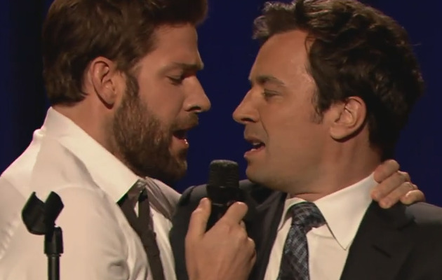 John Krasinski & Jimmy Fallon Have Hilarious Lip Sync-Off!