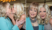 Candy & Tori Spelling -- Kiss & Lots of Makeup!