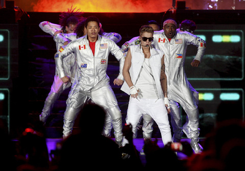 Justin Bieber performs in Johannesburg, South Africa and in Cape Town, South Africa.