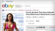 Farrah Abraham -- Sex Tape Bikini YANKED Off Ebay