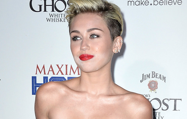 Miley Cyrus Suffers Makeup Malfunction at Maxim Hot 100 Party