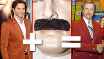 Bradley Cooper & Ron Burgundy -- Separated By a Stache