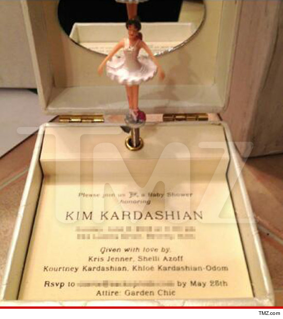 Kim Kardashian My Baby Shower Invite Is Better Than Yours TMZcom