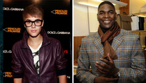 Justin Bieber -- Fear of Keyshawn Johnson ... in Neighborhood Speeding War