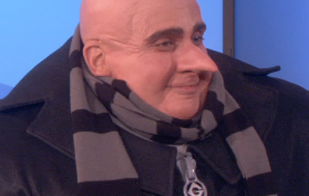 """Steve Carell Does Interview in Full """"Despicable Me"""" Costume!"""