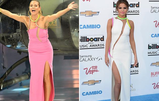 Dueling Dresses: Heidi Klum vs. Selena Gomez!