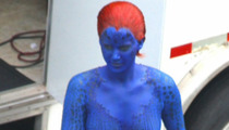 Jennifer Lawrence -- Feeling Blue ALL Over Her Body