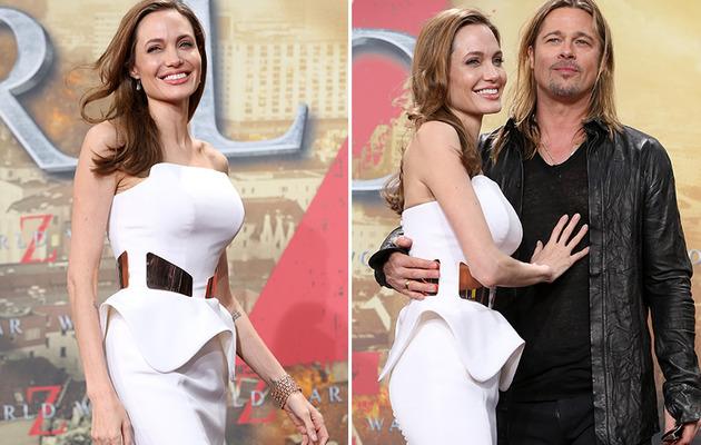"Angelina Jolie Stuns at Germany's ""World War Z"" Premiere!"