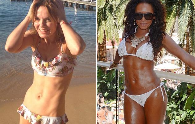 Geri Halliwell & Mel B -- Which Spice Girl Has Better Bikini Bod?
